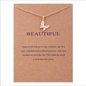 Jewelry - beautiful dainty butterfly necklace